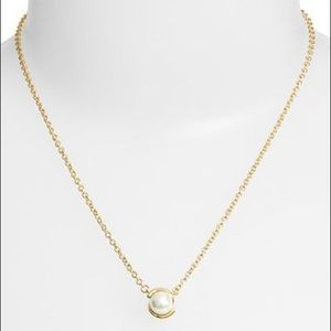 NEW Kate Spade Dainty Faux Pearl Pendant Necklace